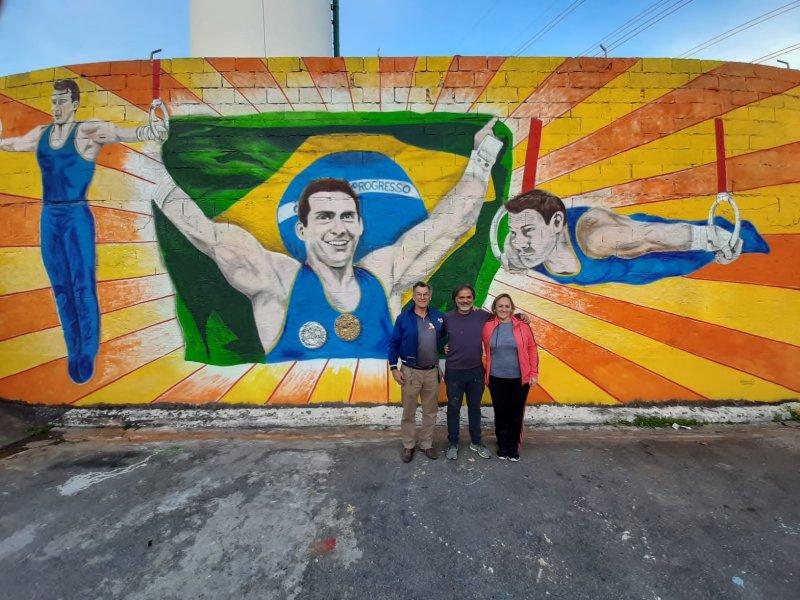 Muro em homenagem para Arthur Zanetti